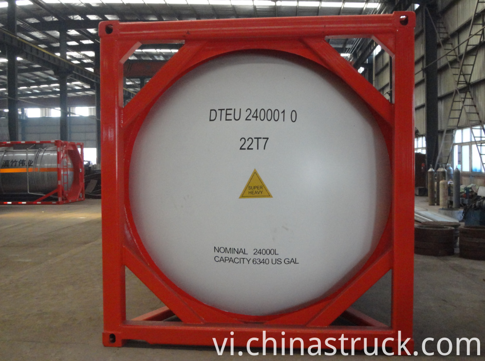 20FT 24500 LITERS ASME tank container for liquid NH3