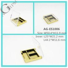 Transparent couvercle rectangulaire ombre à paupières cas AG-ES1006, AGPM empaquetage cosmétique, couleurs/Logo personnalisé