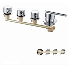 Factory 1500g OEM custom 4 Function bath faucets  bathroom shower valve faucet