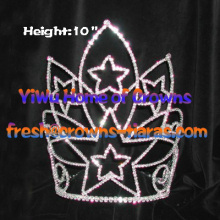 10inch Rhinestone Star Crowns Collections