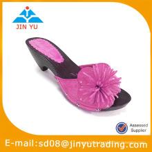 Senhora moda sandália de madeira