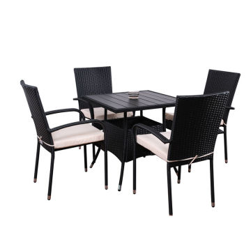 Discount Price Pet Film for Patio Furniture Sets 5pc steel rattan dining set export to Anguilla Wholesale