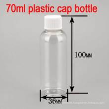 70ml Vacío Tazón De Tornillo De Plástico Piel Shampoo / Tóner / Loción Corporal Botella