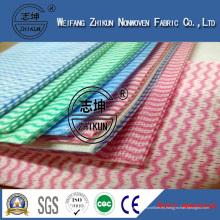 Patrón de onda Spunlace Rayon Nonwoven Fabrics