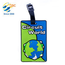 Personalized Creative Hotel Soft PVC Luggage Tag Designs