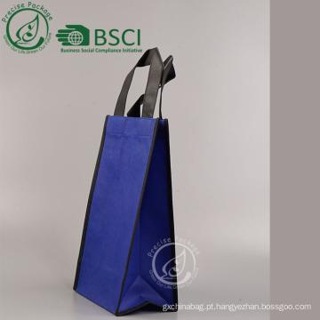 saco de papel não tecido reutilizável personalizado com zíper