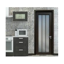 Woodwin caliente vendedor doble vidrio templado con puerta de aluminio de patrón de marco