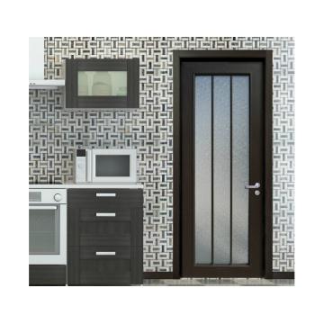 Woodwin Hot Seller Double vitre trempé avec motif Aluminium Casement Door