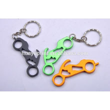 Customized Colorful Engraving Bottle Opener Metal Key Ring