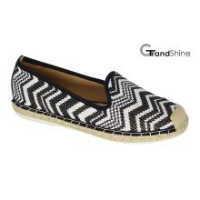 Chaussures plates décontractées en espadrille raphia pour femmes