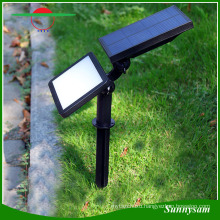 2-in-1 Adjustable 48 LED Light Sensor Spike Solar Garden Courtyard Light 3 Modes Super Bright Wall Lamp Landscape Spotlight