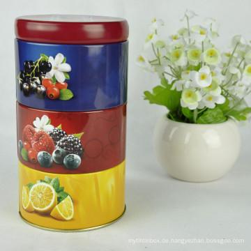 Tin Box für Cookies / Runde Zinn Box / Weihnachten Cookie Tin Box