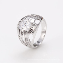 12449 Xuping buena calidad China al por mayor anillo de color plata joyería de circón