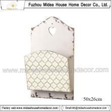 Retro estante de periódico para la decoración del hogar