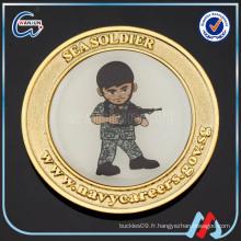 Soldat militaire métal or pièce