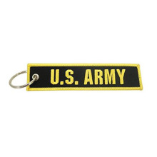 Big discounting for Embroidery Keychain US Army Twill Embroidered Key Chain export to Japan Exporter