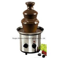 Máquina da fonte do fondue de chocolate do aço inoxidável de três séries