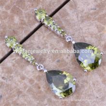 Boucles d'Oreilles Pendantes Longues Boucles d'Oreilles en Cristal d'Olive et Cristaux