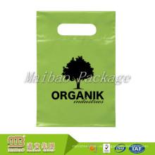 100% biologisch abbaubarer kundenspezifischer Farbdesign-Druck sterben geschnittene Griffe grüne Plastiktaschen