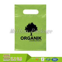 100% Biodegradable Custom Color Design Printing Die Cut Handles Green Plastic Bags
