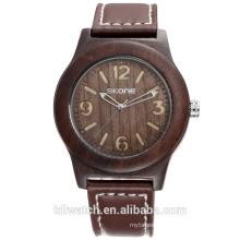SKONE 9427 quartz fashion wood case men's watch