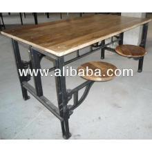 Mesa de hierro fundido industrial