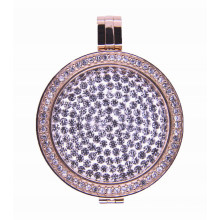 Novo Lançado 2016 Design Luxry Locket com placa de moeda flutuante