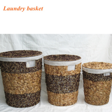 High Quality for for Clothes Basket Round Sea Grass Laundry  Basket export to United States Manufacturers