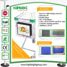 Einkaufswagen Kunststoff Werbeschild