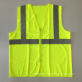 ANSI/ISEA 107 cheap yellow zipper reflective safety vest with EN 20471 3m reflective tape