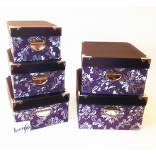 Promotion model paper storage locker case sets