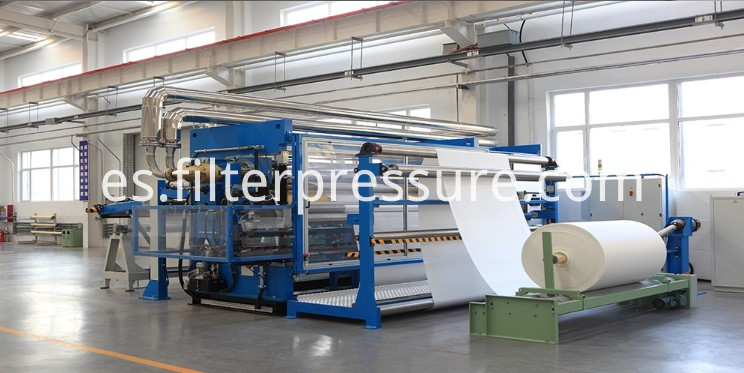 filter press cloth coiling