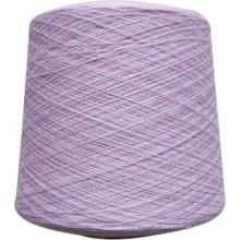 Uso de tricô e tecelagem 50% algodão 50% fio acrílico