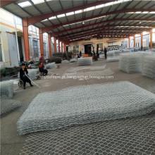 Gabiões revestidos de PVC e galvanizados para parede de retenção