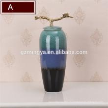 Стиль Винтаж оптовые украшения дома большие напольные керамические вазы для цветов товары для дома декоративная ваза