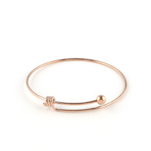 Newest Sale Adjustable stainless steel wire bangle bracelet with simple design