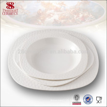Guangzhou 8 inch ceramic soup plate square modern restaurant plates