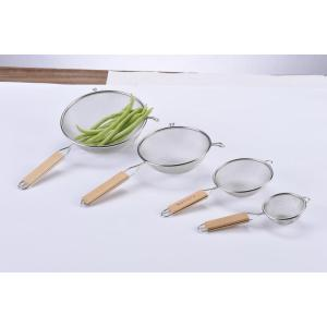 Single Mesh Strainer with Wooden Handle