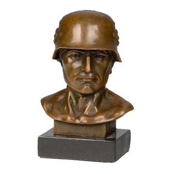Mâle Buste En Métal Sculpture Maison Déco Soldat Américain Statue Tpy-511