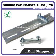 TA-002 Para el soporte del fusible Abrazadera del extremo del tapón del carril muerto doble del acero