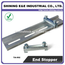 TA-002 For Fuse Holder Steel Double Dead Rail Stopper End Clamp
