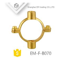 EM-F-B070 Tubería circular Abrazadera de latón de doble propósito de pared fija