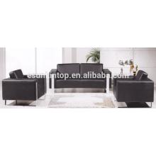 Ensembles de canapés en couleur pure pour bureau utilisé, Design et vente de meubles de canapé d'office (KS3109)