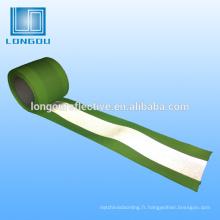 Haute visibilité personnalisé 100% polyester fil fil rétroréfléchissant bande sangle strape matériel pour ceinture de sécurité vêtements et sac