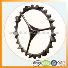 neumático de la maquinaria de granja con composición de goma fuerte acero base
