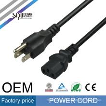 SIPU haute vitesse AC câble d'alimentation pour PC en gros fil d'ordinateur câble électrique USA style cordon d'alimentation