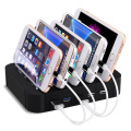 5 Slots Charging Station 5 USB Ports Charger for Tablet Mobile Phone