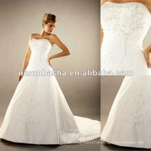 Bordado Acentado por Crystals Features All Around Wedding Dress