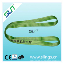 Sf 5: 1 Eslinga de cinta sin fin verde de doble capa con Ce GS