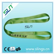 Sf 5: 1 Sling sangle sans fin vert double couche avec Ce GS